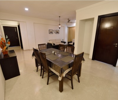 The Lawns dinning in serviced apartment