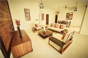 serviced apartment in oragadam living room